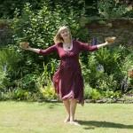 Laurelle holding Himalayans garden 3